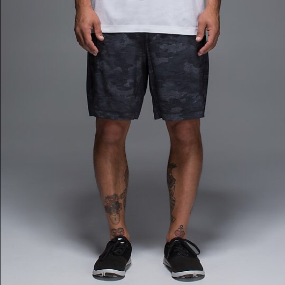 lululemon athletica Other - Lululemon Pace Breaker Camo Shorts Blue Black  Grey f0f158c5f46